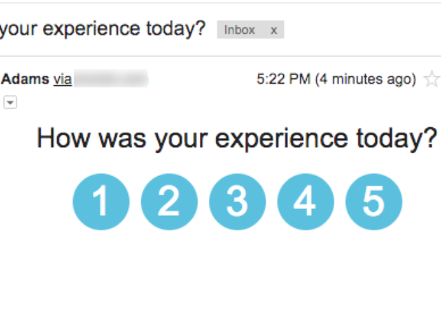 How to insert a survey question into an email