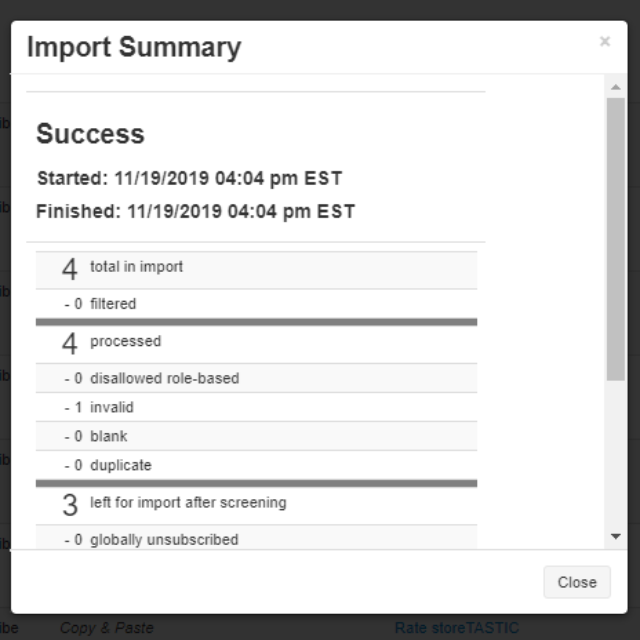 Understanding Your Import Summary Report